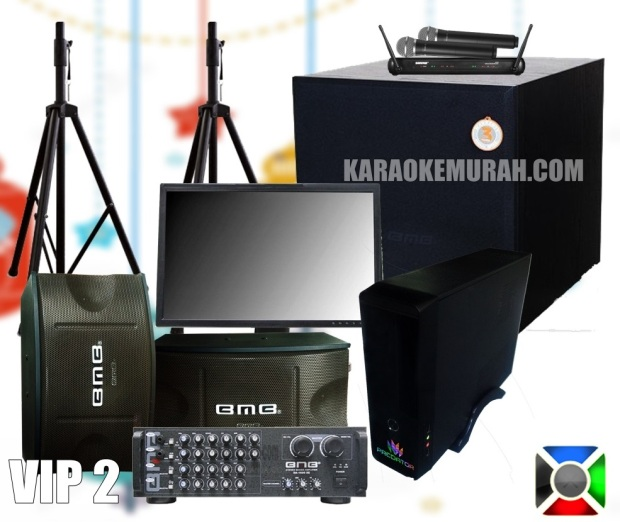 PREDATOR KARAOKE SPEAKER BMB 10 INCH AMPLIFIER BMB DA-2000 PRO SUBWOOFER BMB 12 INCH MONITOR TRIPOD/BRACKET MIC SHURE WIRELESS KABEL HDMI + RCA KABEL SPEAKER GRATIS ONGKIR DAN INSTALASI SE-KOTA BANDUNG GARANSI SOUND SYSTEM 3 TAHUN GARANSI PREDATOR KARAOKE 1 TAHUN