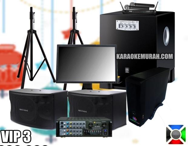 PREDATOR KARAOKE SPEAKER MARTIN ROLAND MK-888 10 INCH AMPLIFIER MARTIN ROLAND SUBWOOFER YAMAHA YST-SW315 10 INCH MONITOR TRIPOD/BRACKET MIC SHURE WIRELESS KABEL HDMI + RCA KABEL SPEAKER GRATIS ONGKIR DAN INSTALASI SE-KOTA BANDUNG GARANSI SOUND SYSTEM 3 TAHUN GARANSI PREDATOR KARAOKE 1 TAHUN